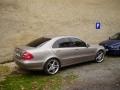 Mercedes Benz E instalace protislunecni autofolie Llumar AT20CH