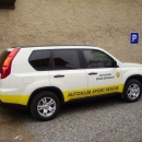 Nissan X-Trail instalace protislunecni autofolie Llumar AT5,35