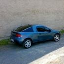 Opel Tigra instalace protislunecni autofolie Llumar AT15